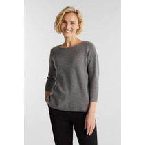 Knitted Sweater with Wool - Gunmetal
