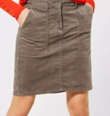 Cecil Fluweelachtige Rok - Misty Mocca Brown