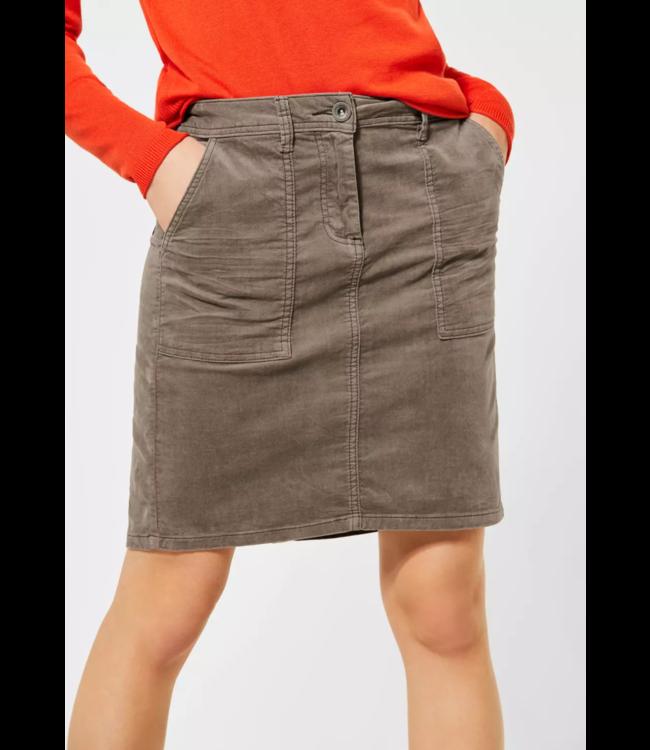 Cecil Velvet Skirt - Misty Mocca Brown
