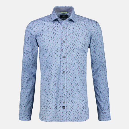 Lerros Overhemd met Shark Collar - Sky Blue