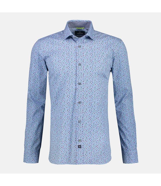 Lerros Hemd mit Shark Collar - Sky Blue