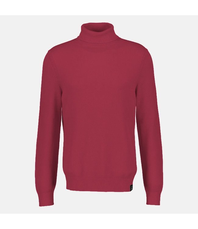 Lerros Structured Sweater with Turtleneck - Red