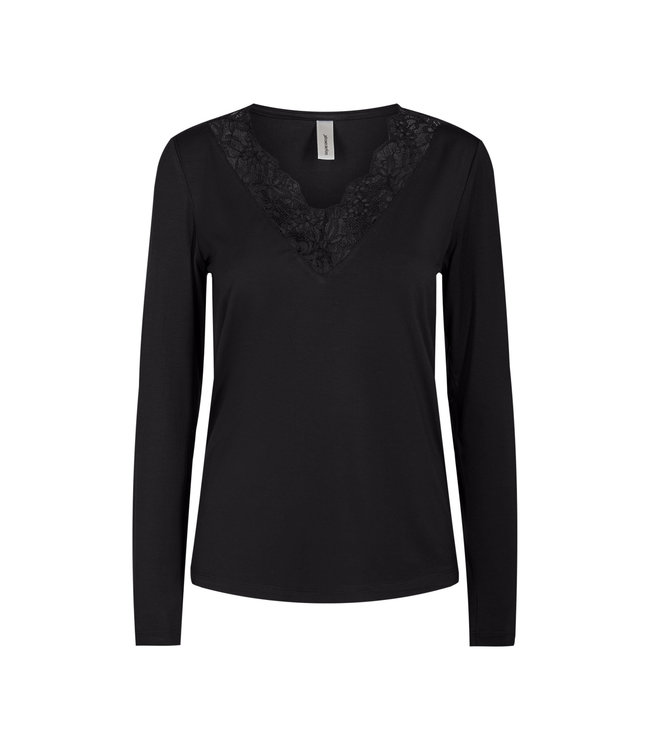 Soyaconcept Shirt with Lace Marica 120 - Black