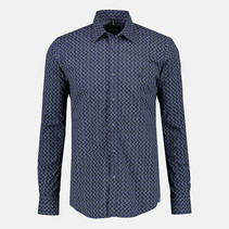 Poplin Overhemd met Stretch  - Dark Navy