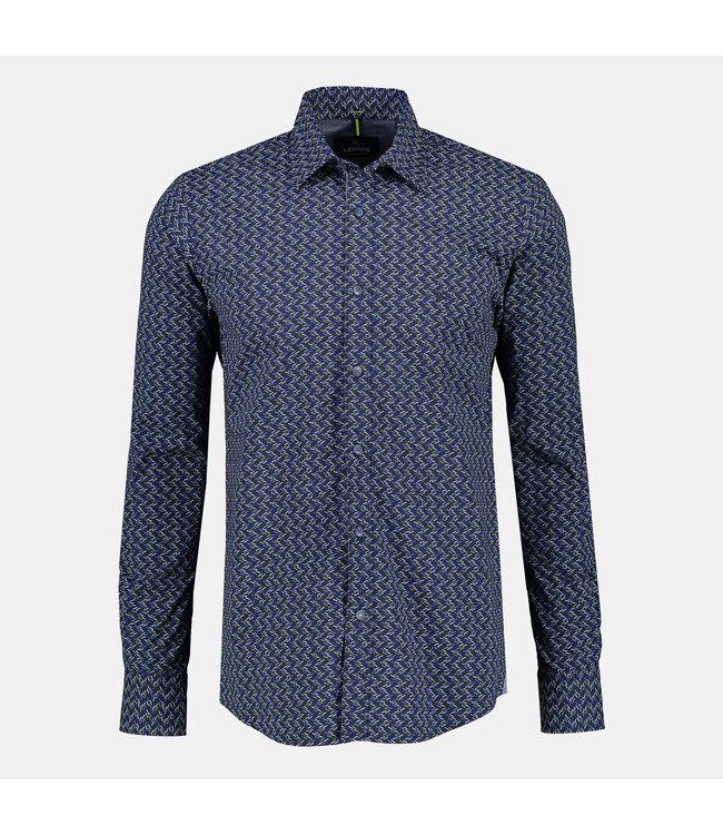 Lerros Poplin Hemd mit Stretch  - Dark Navy