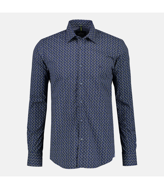 Lerros Poplin Overhemd met Stretch  - Dark Navy