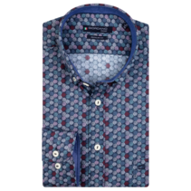 Allover Print Overhemd - Dark Navy