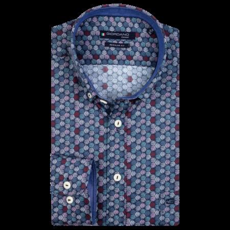 Giordano Allover Print Overhemd - Dark Navy