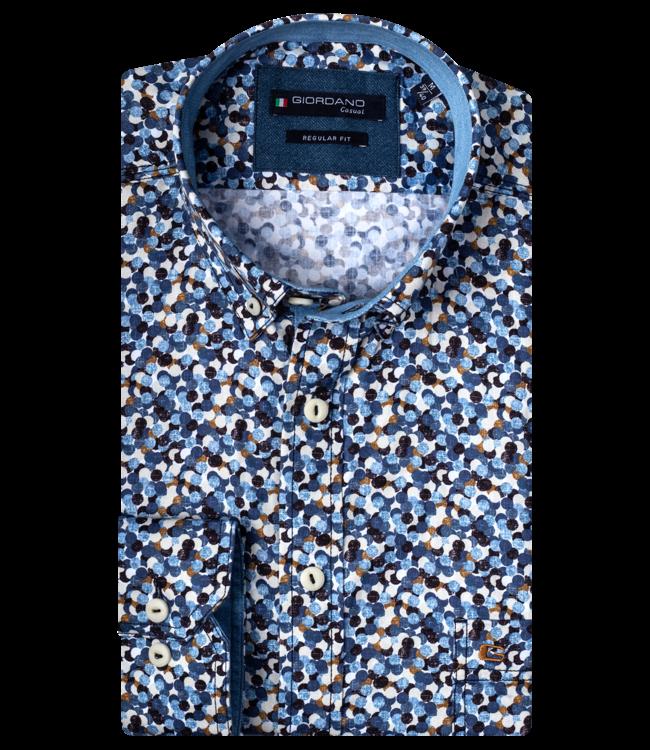 Giordano Shirt with Allover Print - Dark Navy