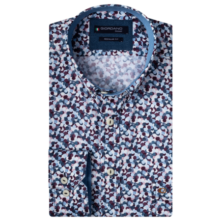 Giordano Button-Down Overhemd - Red