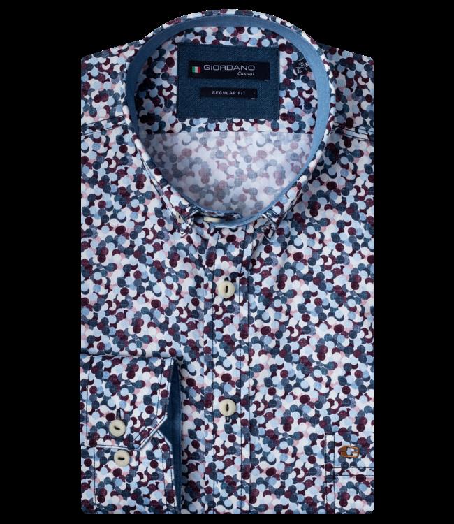 Giordano Hemd mit Allover Print - Red