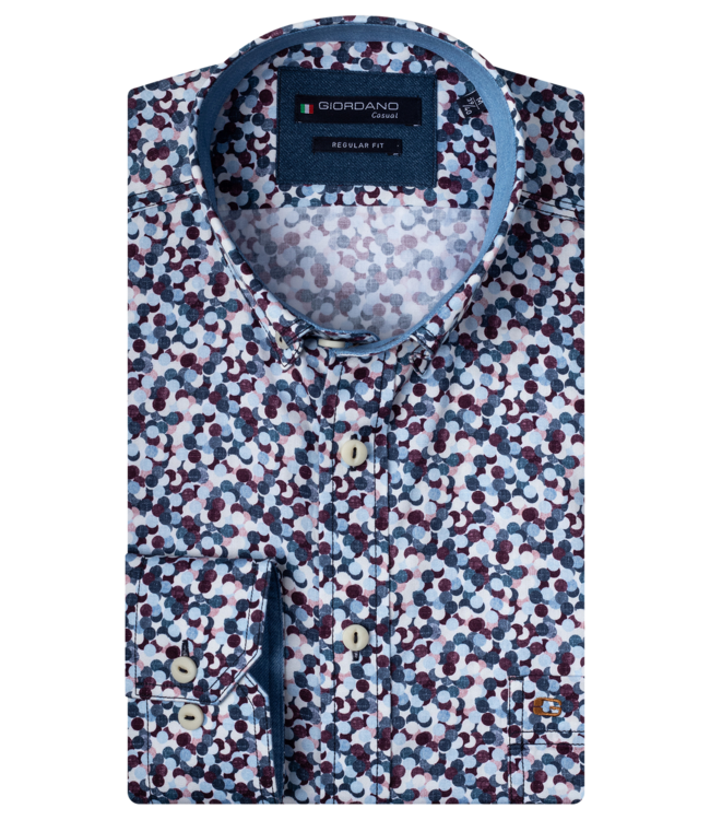 Giordano Shirt with Allover Print - Red