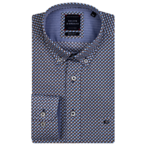 Button-Down Overhemd Print - Denim Blue