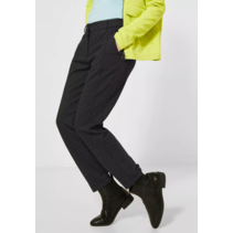 Jersey-Hose in Casual Fit Tracey - Black