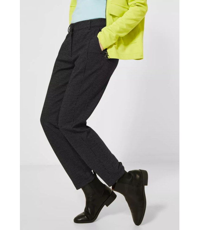 Cecil Jersey Pants in Casual Fit Tracey - Black