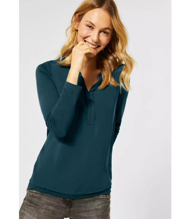 Cecil Blouse in Layer Look - Atlantic Green