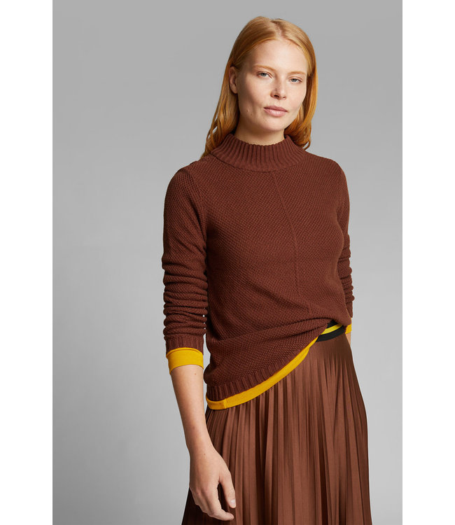 Esprit Sweater with Organic Cotton - Brown
