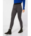 Street One Skinny Fit Pants with Check Print Hope - Black