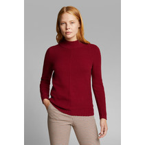 Sweater with Organic Cotton - Bordeaux Red