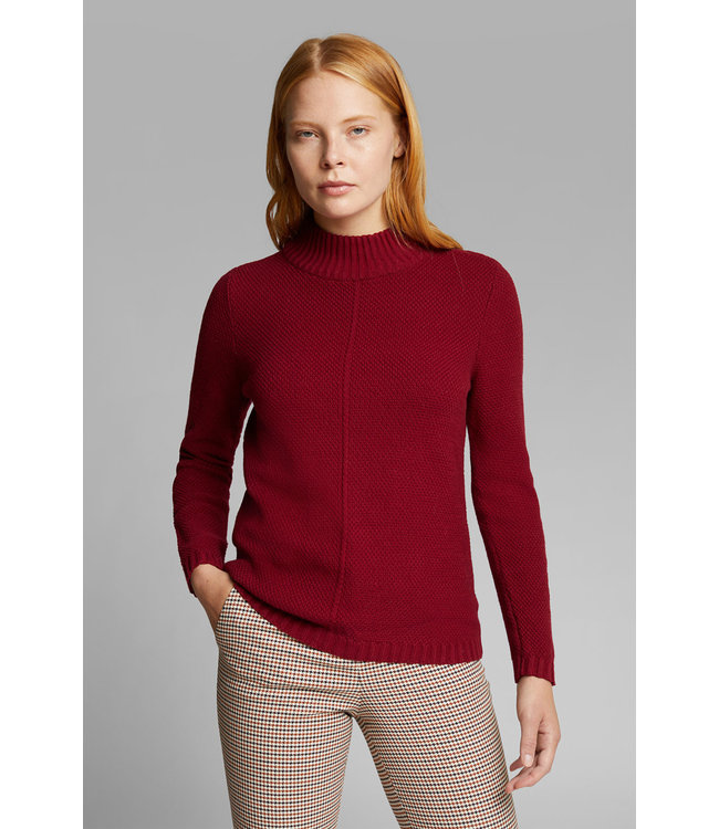 Esprit Sweater with Organic Cotton - Bordeaux Red