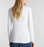 Esprit Basic Longsleeve met Stretch - White