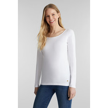 Basic Longsleeve met Stretch - White
