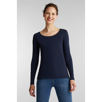 Basic Longsleeve met Stretch - Navy
