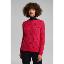 With Wool and Alpaca: Pullover - Pink Fuchsia