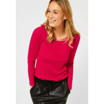 Basic Shirt Lange Mouwen Pia - Hibiscus Red