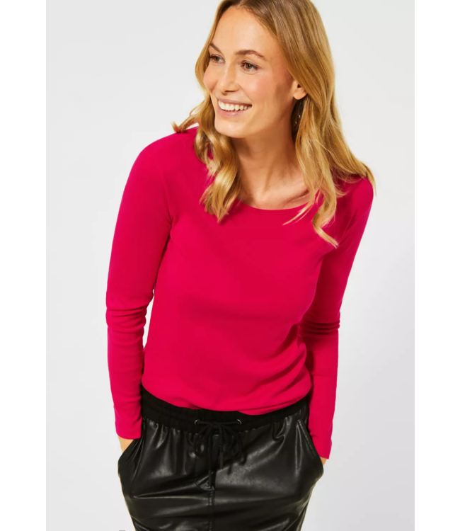 Cecil Organic Cotton Shirt Pia - Hibiscus Red