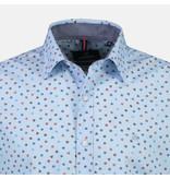 Lerros Overhemd met Lange Mouw en Minimale Opdruk - Sky Blue