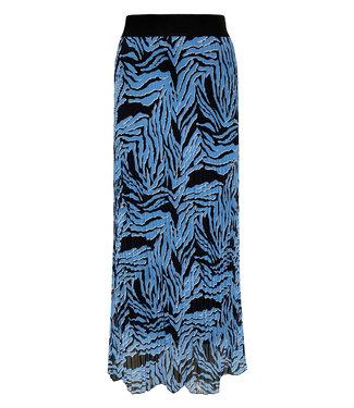 Elvira Collections Plissé Rok Fien - Zebra Ice Blue
