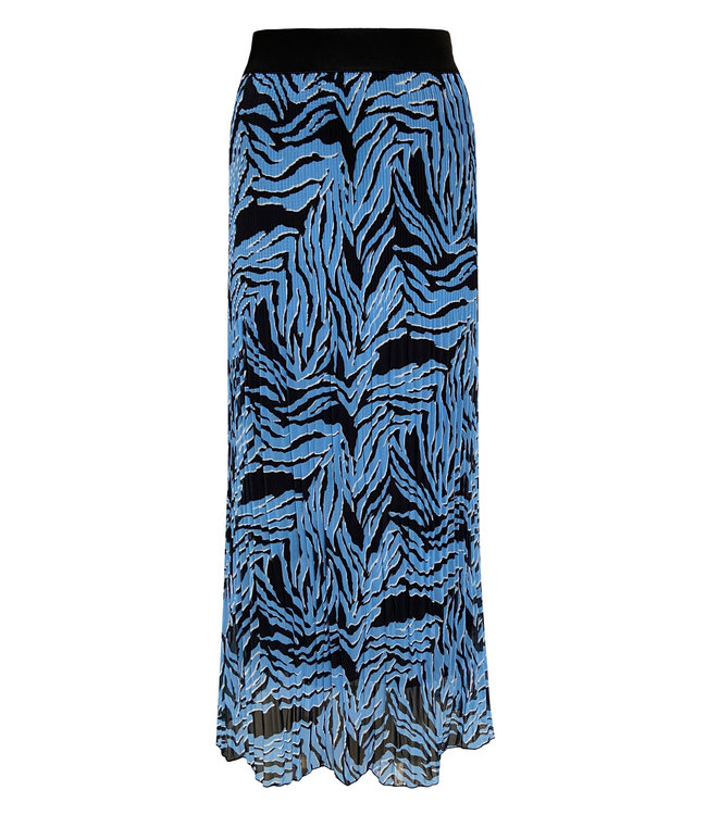 Elvira Collections Plissé Rock Fien - Zebra Ice Blue