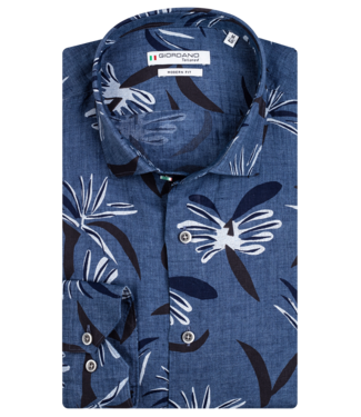 Giordano Overhemd met Print - Jeans Blue