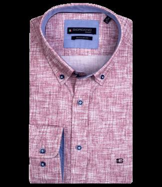 Giordano Button-Down Hemd mit Allover Print - Red