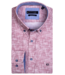 Giordano Button-Down Shirt with Allover Print - Red