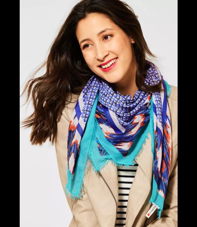 Street One Sjaal met Print - Dark Blue