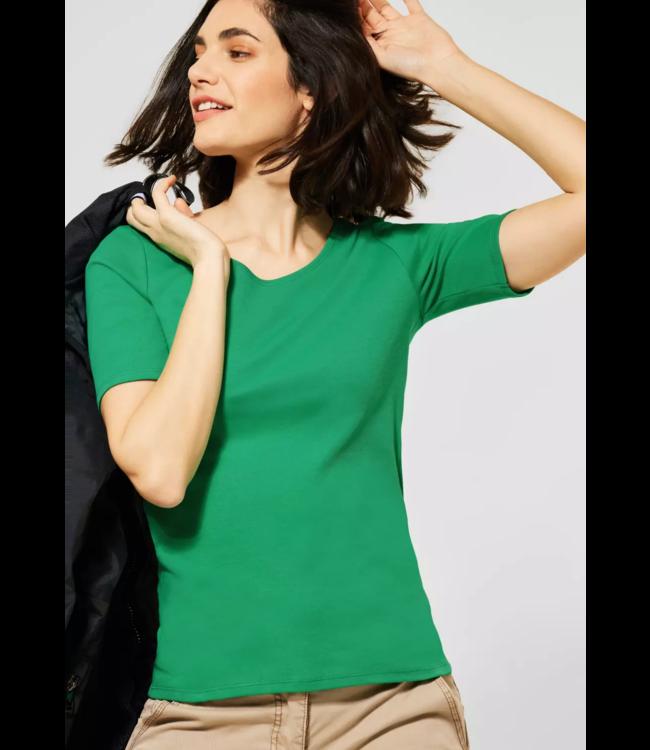 Cecil Organic Shirt Lena - Spearmint Green