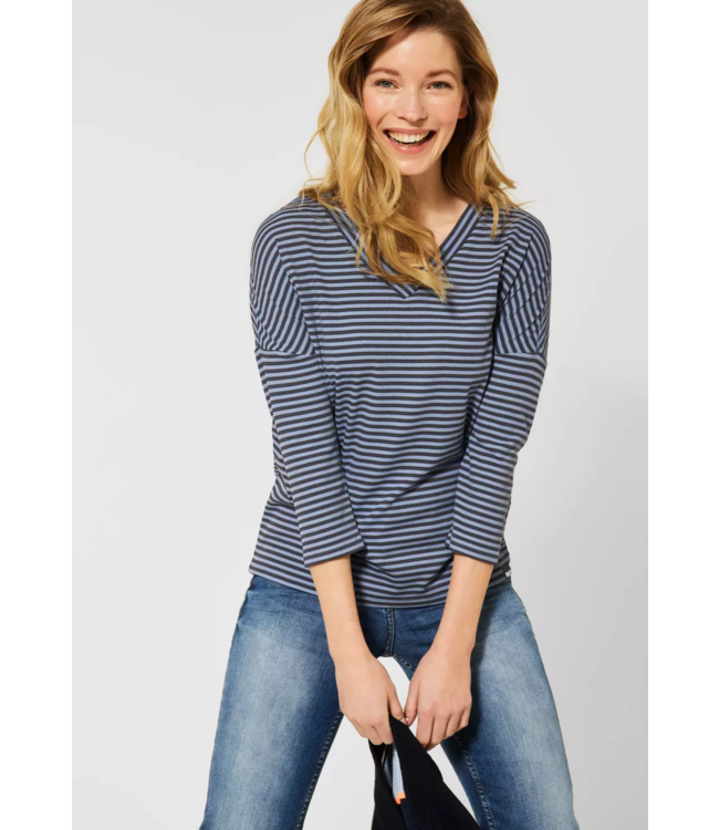 Cecil Shirt with Stripes - Quiet Blue