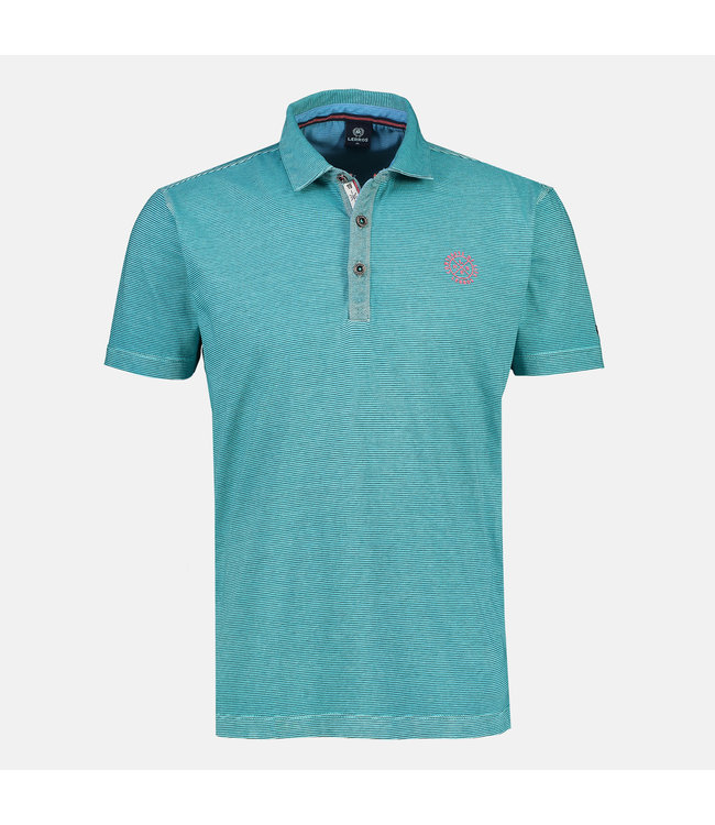 Lerros Jersey Polo Shirt - Turquoise