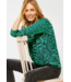 Cecil Shirt with Animal Print - Spearmint Green