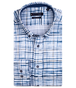 Giordano Button-Down Overhemd AOP - Dark Navy