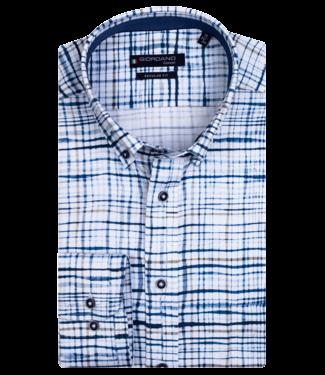 Giordano Button-Down Shirt AOP - Dark Navy