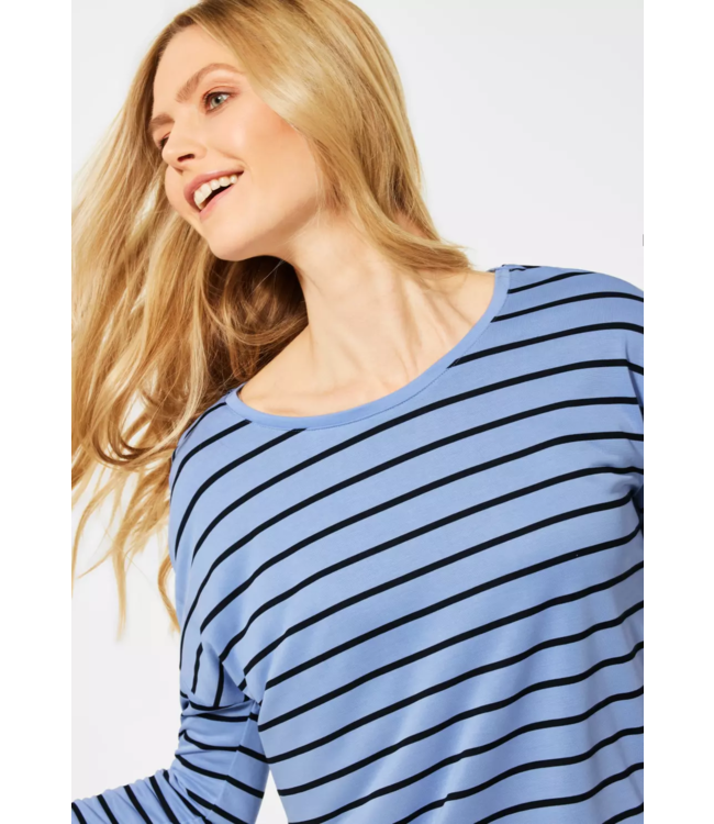 Cecil Shirt with Bow Detail - Quiet Blue