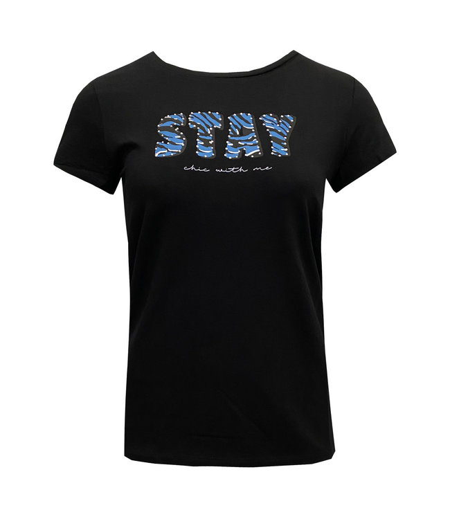 Elvira Collections T-Shirt Stay - Black / Ice Blue