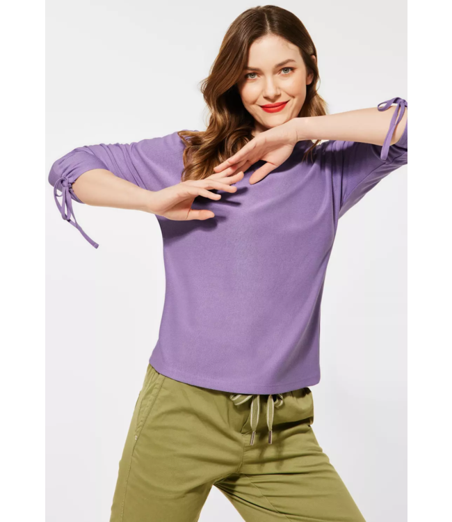 Street One Shirt with Pleats - Clear Lilac