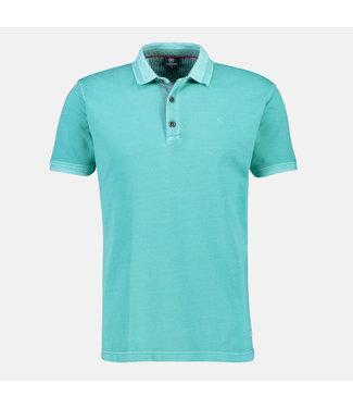 Lerros Poloshirt, Effen - Turquoise