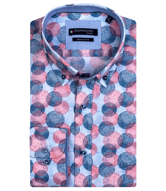Giordano Short Sleeve Shirt with Allover Print - Red