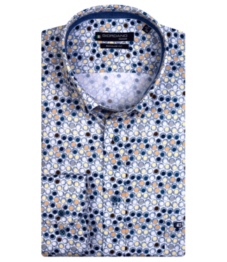 Giordano Shirt with Short Sleeves and Dots - Yellow