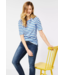 Cecil Raglan T-Shirt met Strepen - Provence Blue